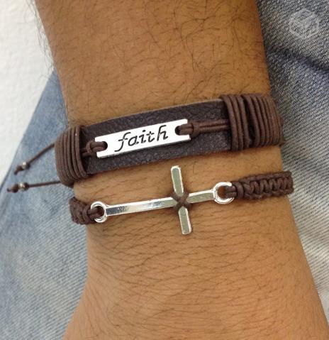 pulseira de couro para homens