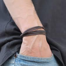 pulseira de couro simples