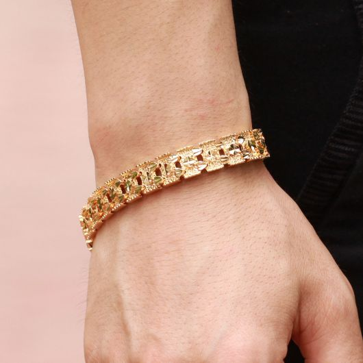 pulseira masculina de ouro