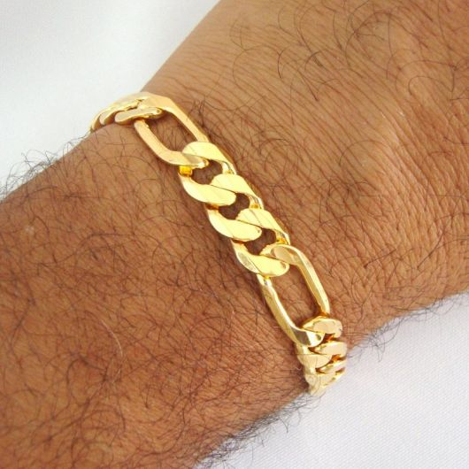 pulseira masculina dourada