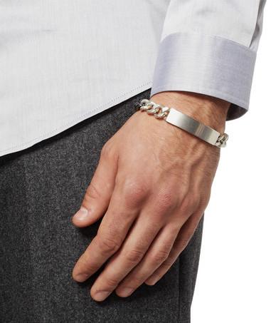 pulseira prata para homens discretos
