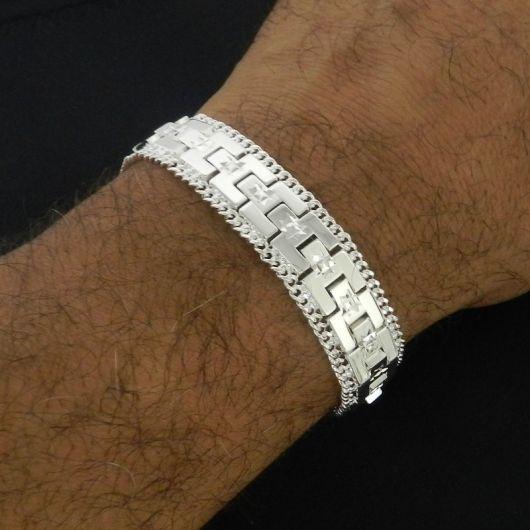pulseira prata para homens