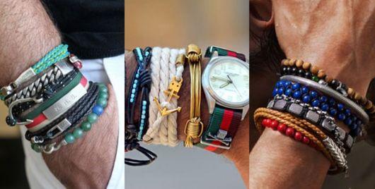 pulseiras coloridas para homens