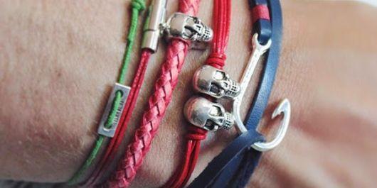 pulseiras masculinas coloridas