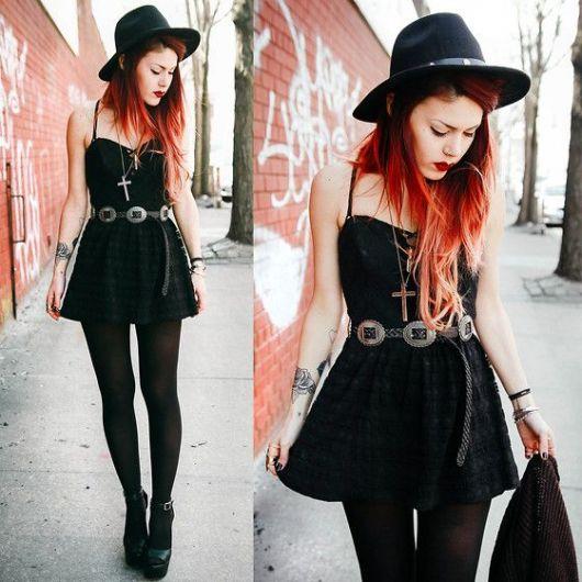 roupas de rockeiras - chapéus