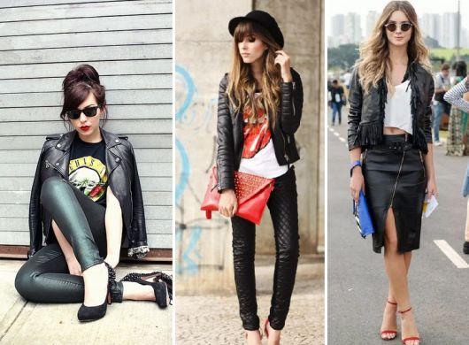 roupas de rockeiras - roupas de couro