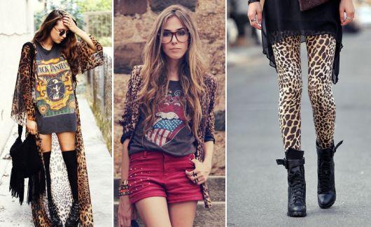 roupas de rockeiras - estampas animal print