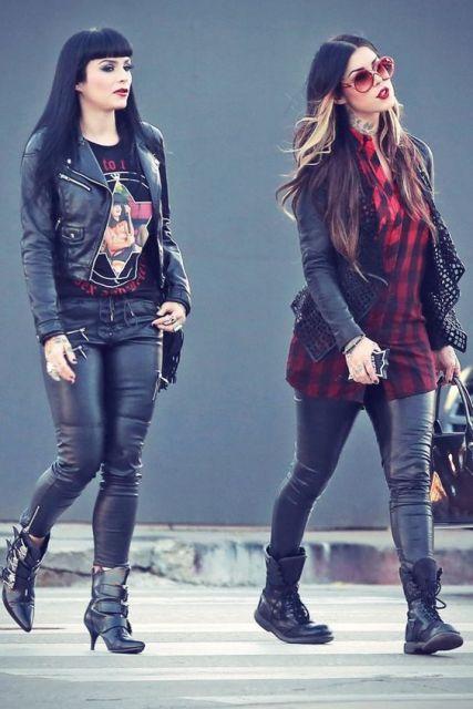 roupas de rockeiras - heavy metal