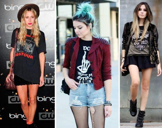 roupas de rockeiras - meninas estilosas