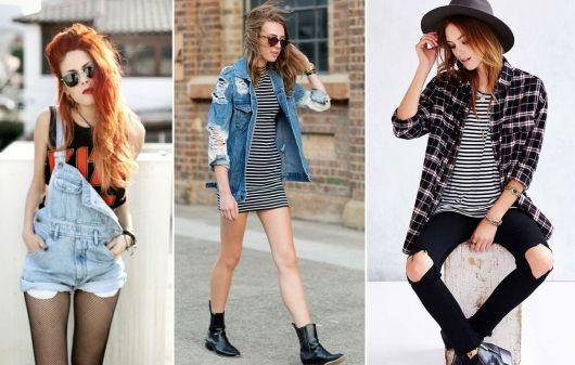 roupas de rockeiras - roupas variadas