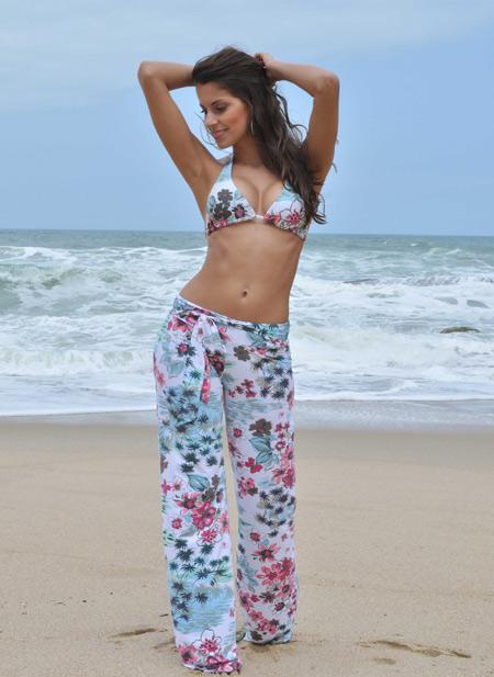 saida de praia modelo calça