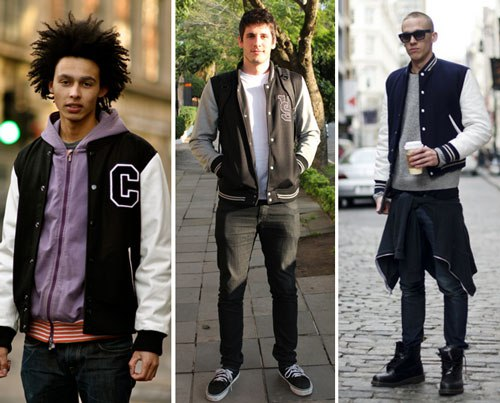 ideias para looks com jaqueta college masculina e jeans