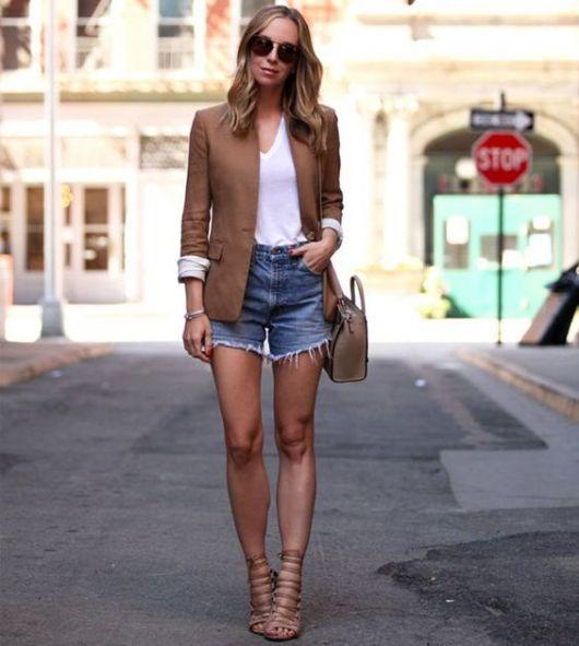 shorts com blazer