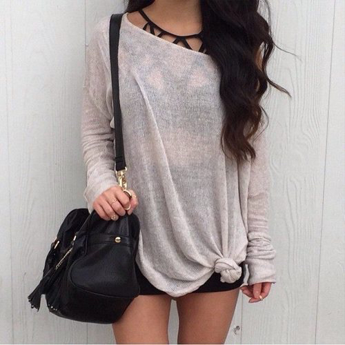 blusa com nozinho