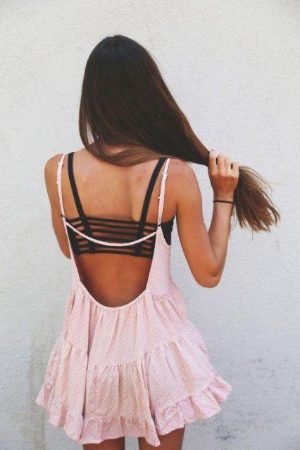 vestido decote nas costas
