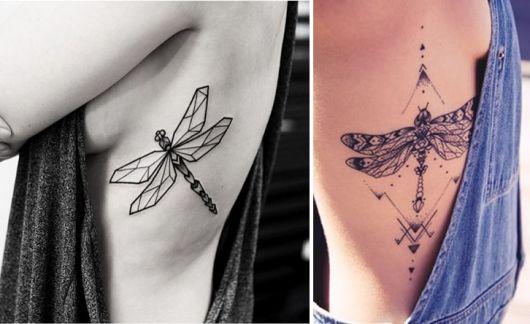 tatuagem na costela feminina Borboleta