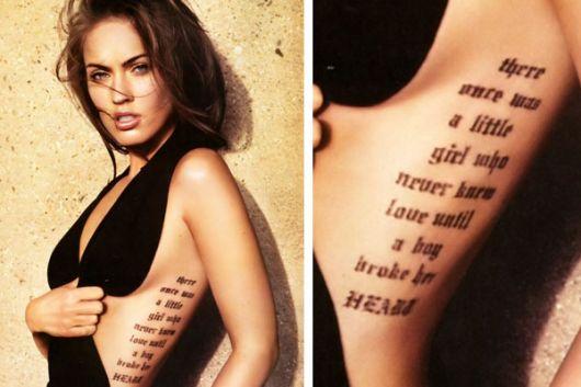 tatuagem feminina na costela megan fox