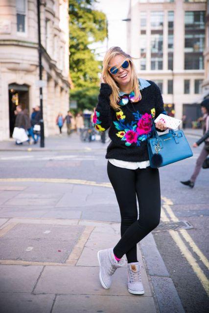 legging com suéter