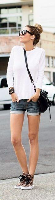 shorts jeans com moletom