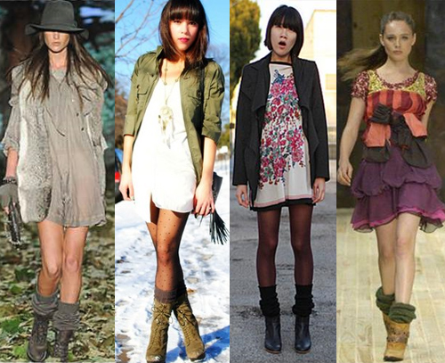 ideias para combinar vestido e polaina