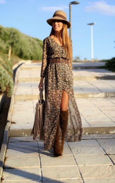 vestido com cinto largo