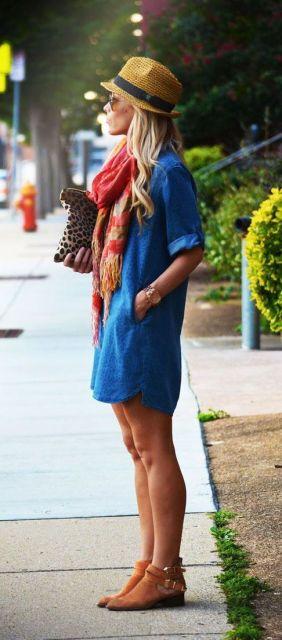 vestido com lenços