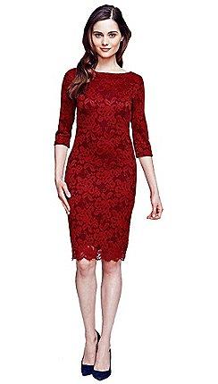 vestido de formatura vermelho de renda