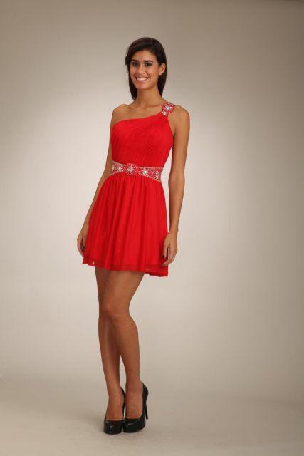 vestido de formatura vermelho saia drapeada