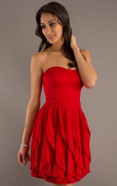 ideias para vestido de formatura vermelho curto