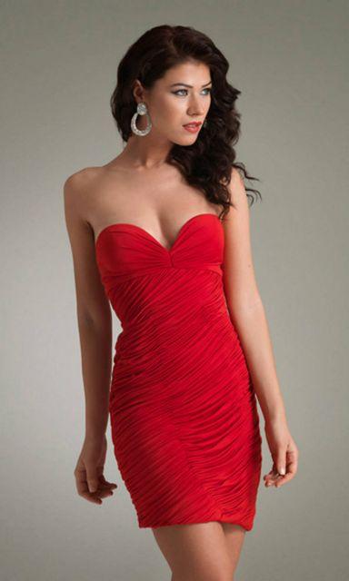 88f8170c70 vestido de formatura vermelho tubinho tomara que caia