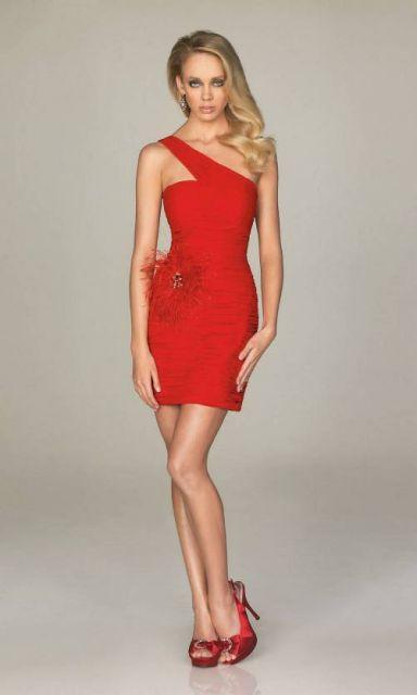 dica para escolher vestido de formatura curto vermelho
