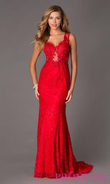 Vestido longo vermelho para formatura