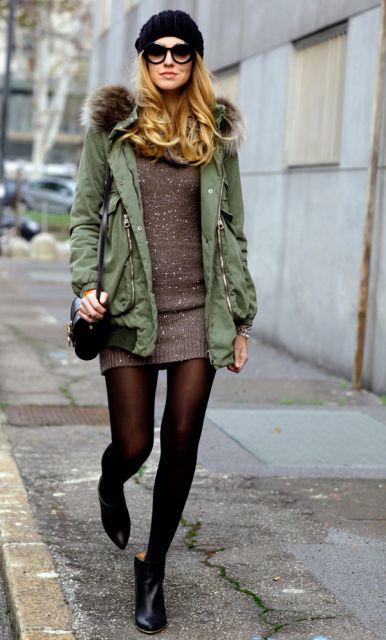 vestido de trico para look inverno feminino