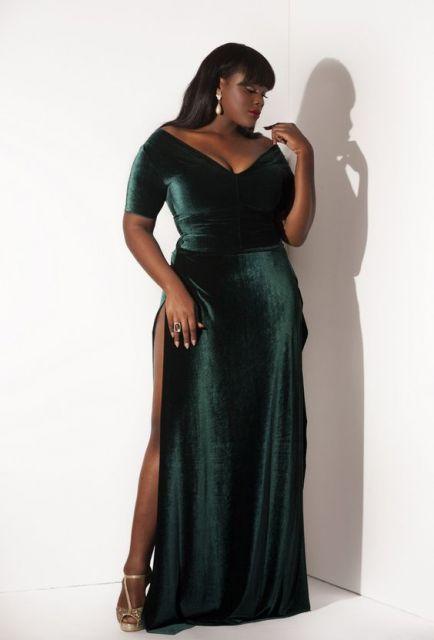 vestido veludo longo