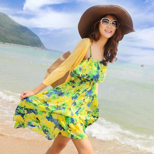 vestido-floral-em-look-praia