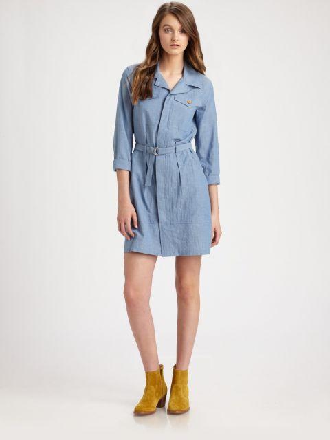 dicas de visual com vestido jeans claro