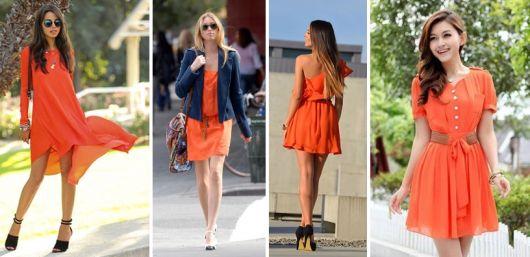 VESTIDO LARANJA: 30 Modelos e Looks Incríveis!