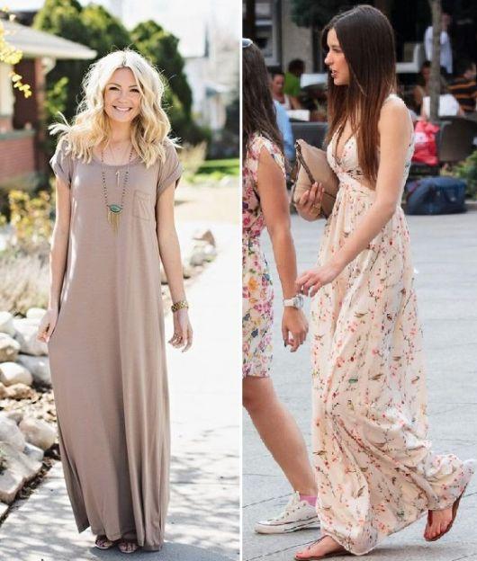 vestido longo para baixinha para passear