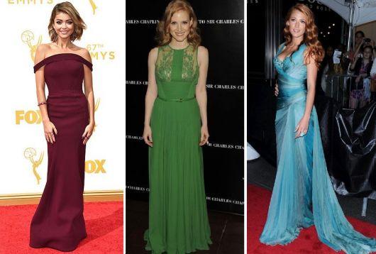 vestido longo para baixinha com cores vivas