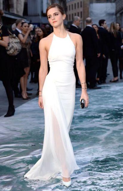 Emma Watson com vestido longo