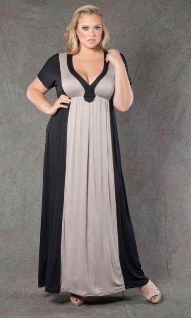 vestido longo para baixinha e gordinha cores lisas