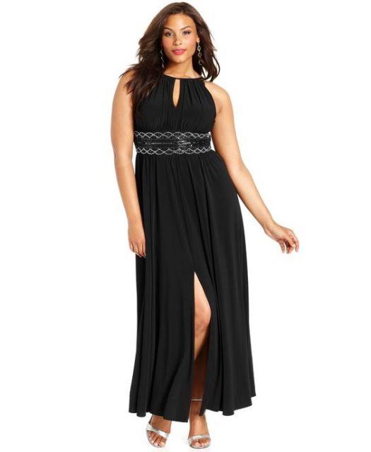 vestido longo para baixinhas e gordinhas