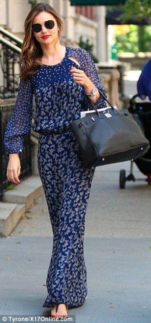 vestido longo para baixinha azul