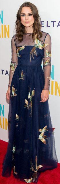 vestido longo para baixinha com estampa de pássaros