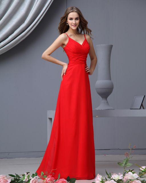 Vestido longo vermelho preco