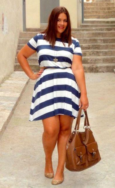 vestido listras horizontais