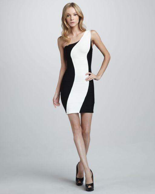 vestido preto e branco para encontro