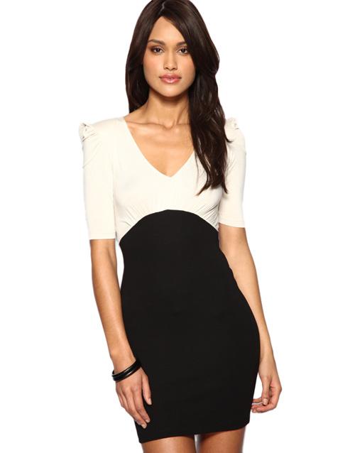 vestido para trabalhar preto e branco