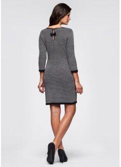 vestido de tricô cinza
