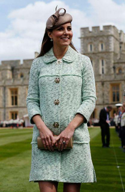 Kate Middleton e seu vestido de tricô